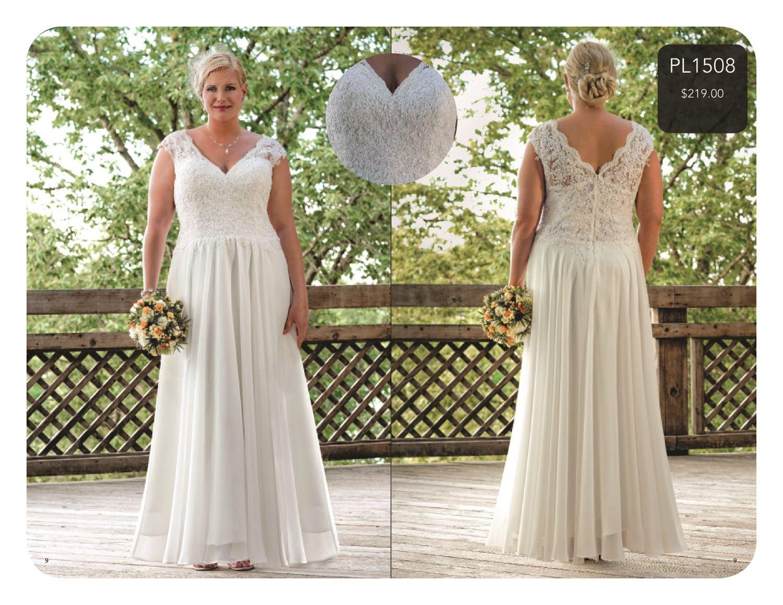 Plus Size Bridal with Sydney's Closet Wedding guest dress