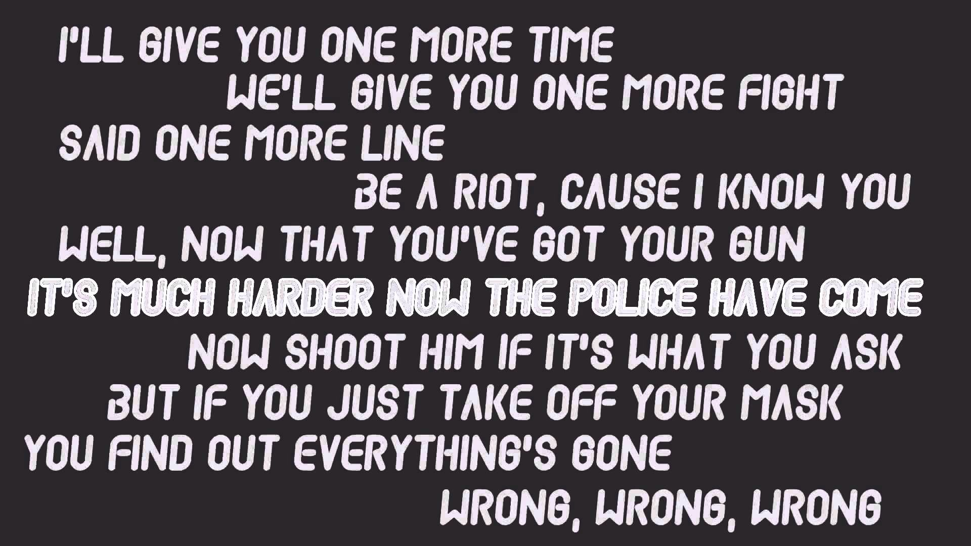The 1975 Robbers Lyrics Tumblr