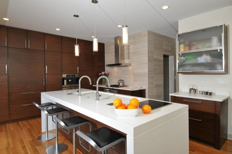 Plan de travail cuisine en blanc- quartz ou Corian? | Cuisine ...