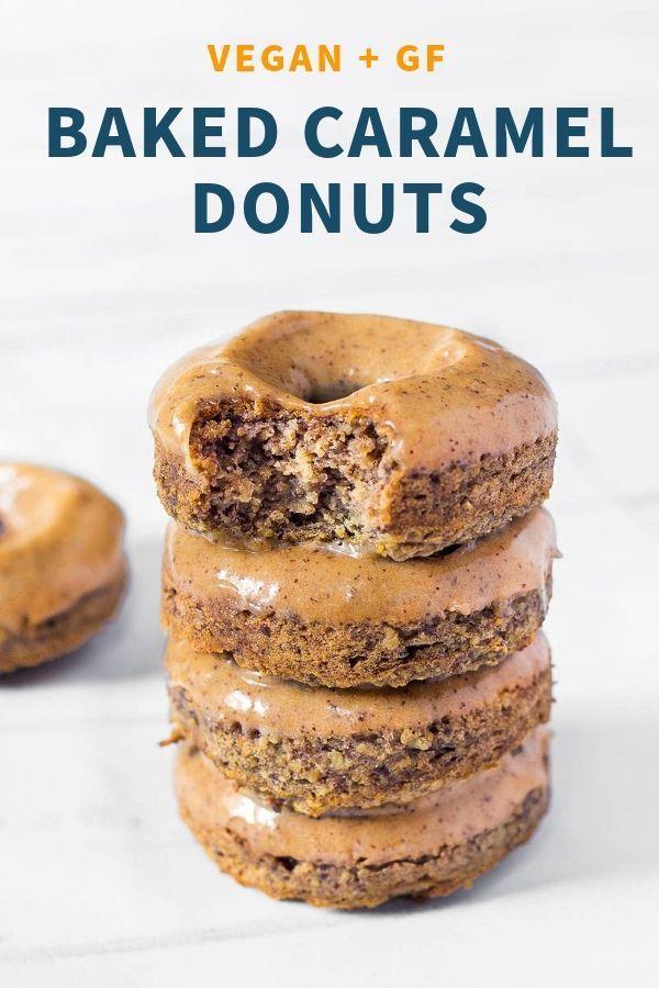 Caramel Baked Vegan Donuts Gluten Free Blooming Nolwenn Recipe Vegan Donuts Vegan Doughnuts Vegan Donut Recipe