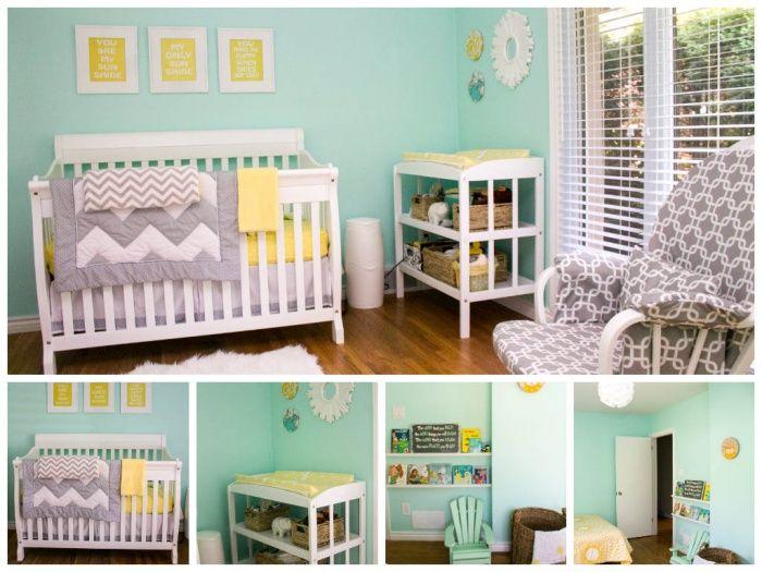 Aqua Yellow Baby Boy Room Colors Nursery Room Colors Baby Room Colors Neutral