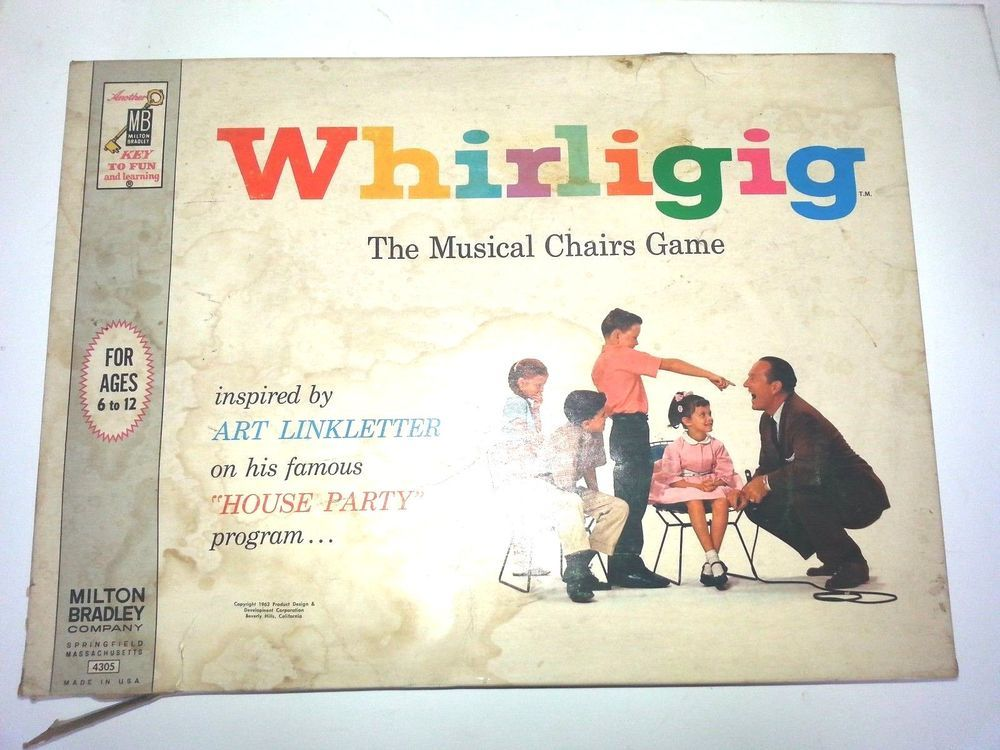 Whirligig The Musical Chair Board Game Art Linkletter House Party ...