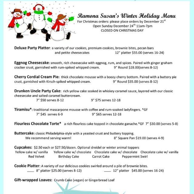 Check Out Our Winter Holiday Menu Order Any Item With  Days