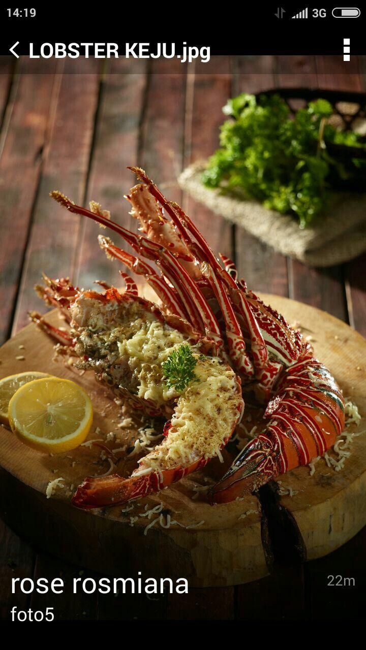Lobster Bakar Keju Special Cabe Jko Live Aeafood Keju