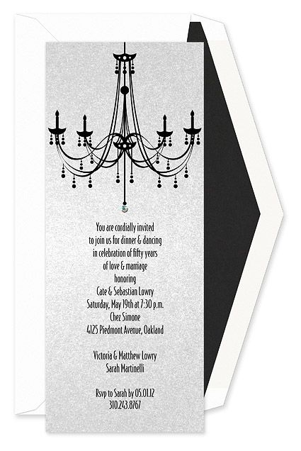 Chandelier dinner party invitations with crystal drop httpwww chandelier dinner party invitations with crystal drop httppartyinvitationwording stopboris Image collections