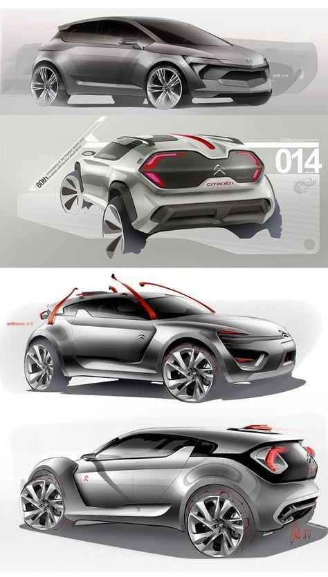 Avant de la citadine ms electric car voitures design design produit et design industriel - Croquis voiture ...