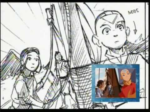 Avataru0027s Original Animatic Storyboard - Bato Of The Water Tribe - anime storyboard