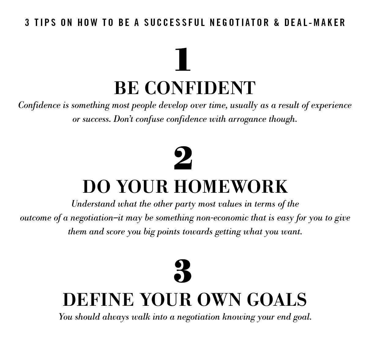 theartofivankatrump: 3 tips on how to be a successful negotiator & dealmaker