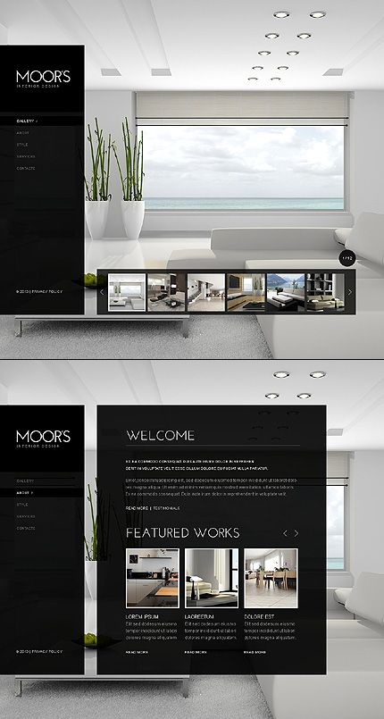 Interior Design Website Template 42345 Interior Design Website