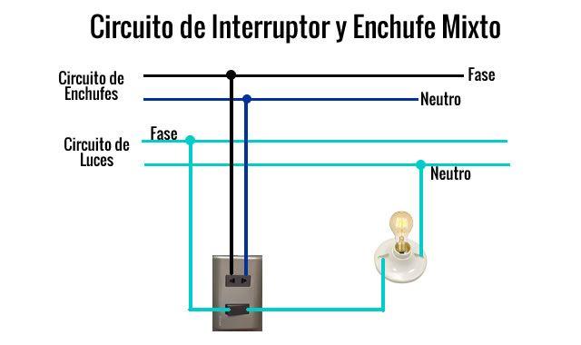 Como Instalar Interruptor Y Enchufe Mixto Instalaciones Domiciliarias Instalación Electrica Diagrama De Instalacion Electrica Diseño Electrico