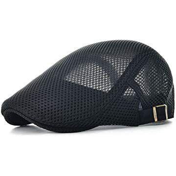 24e431102eda VOBOOM Men Breathable mesh Summer Hat Newsboy Beret Ivy Cap Cabbie Flat Cap
