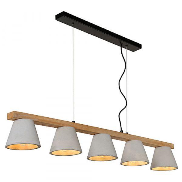 Esszimmer Lampe Holz Beton
