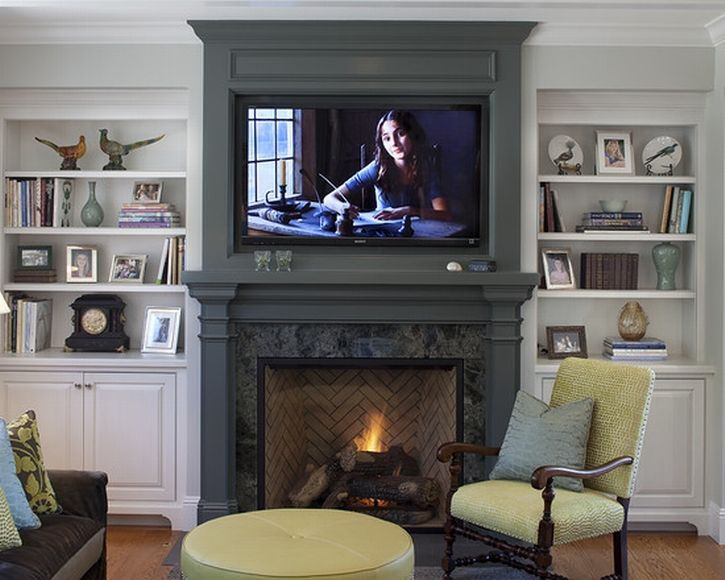 Marvelous Corner Gas Fireplace Trend San Francisco Traditional Family Room Remodeling Ideas With Bookcase Bookshelves Built In Shelves Storage