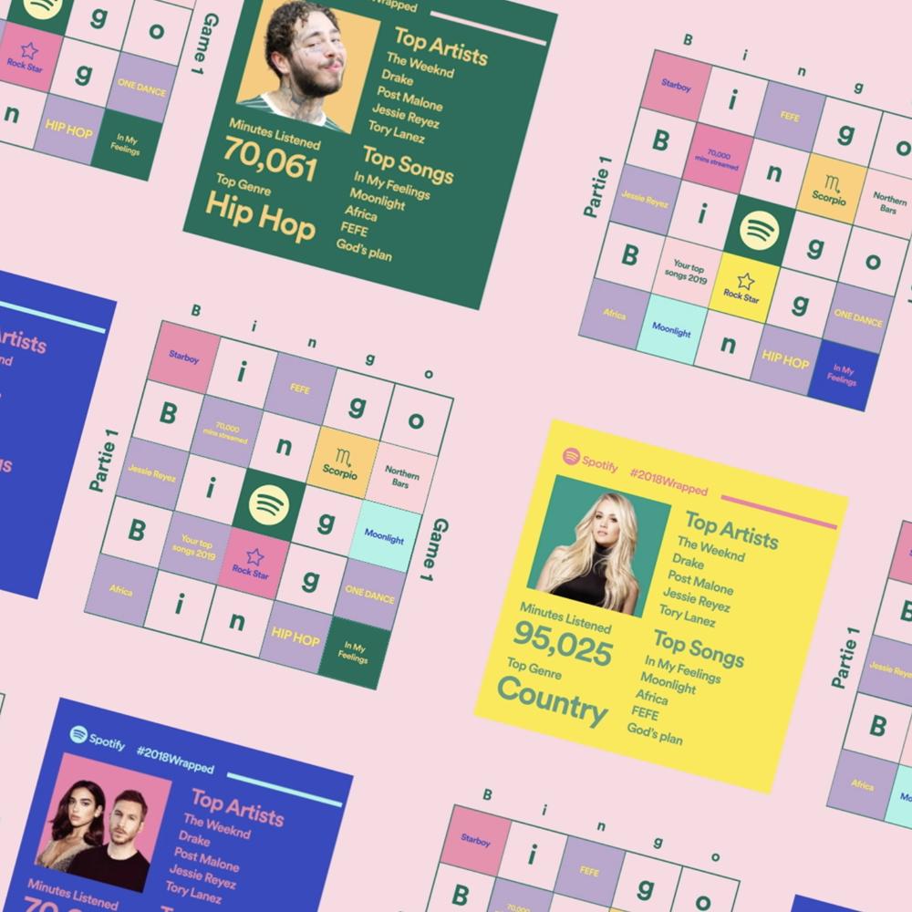 Spotify Wrapped Bingo Spotify