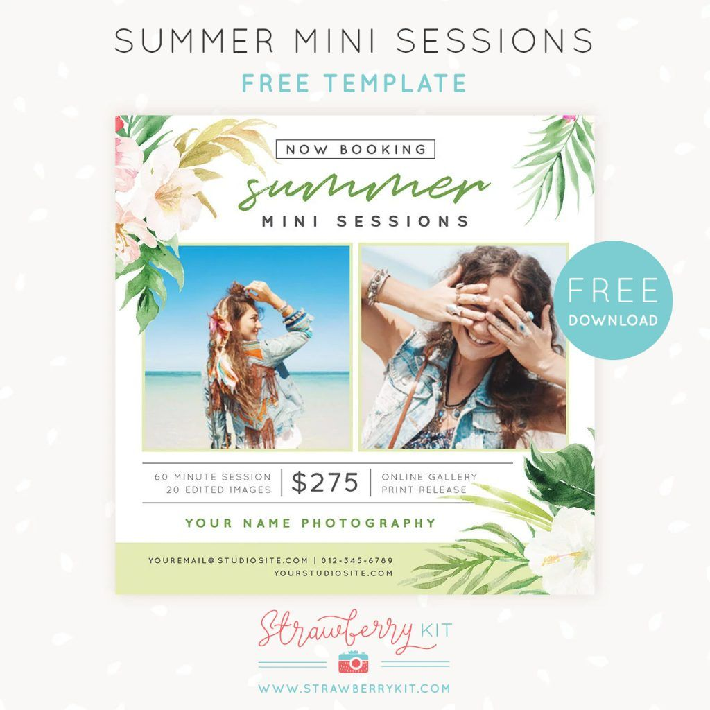 Free Summer Mini Sessions Template For Photoshop Mini Session Template Photography Marketing Templates Free Photography Templates