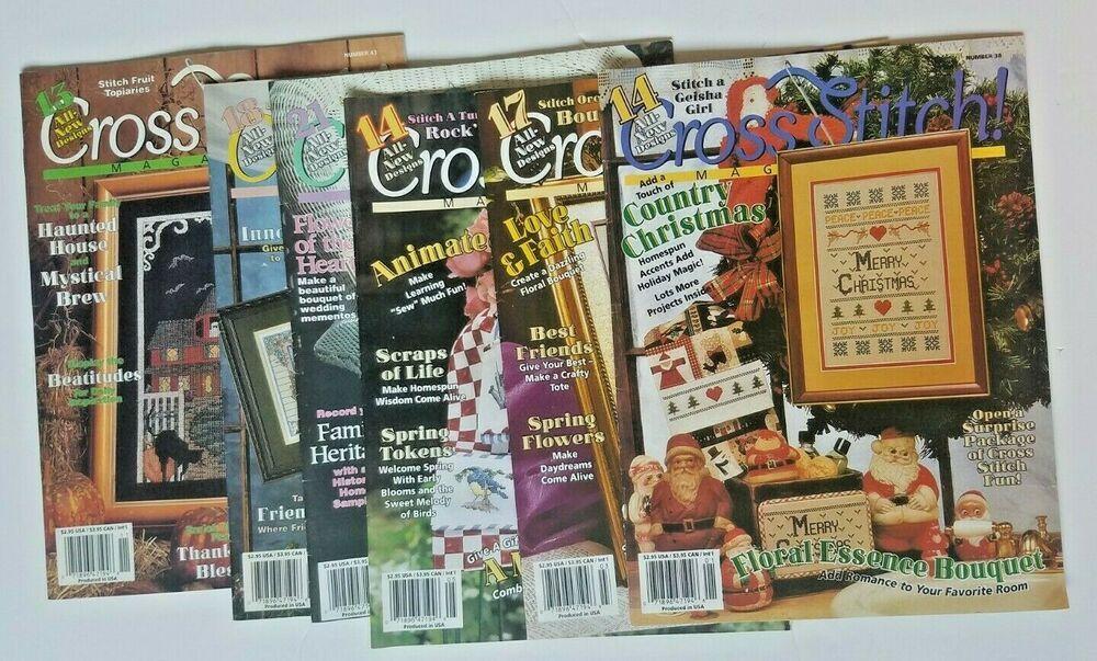 Lot Of 6 Vintage Cross Stitch Magazine by The Needlecraft