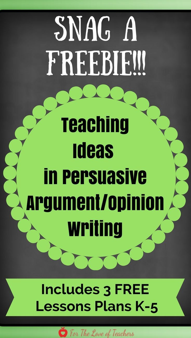 FREE lesson plans to teach the trait of IDEAS in persuasive/argument ...