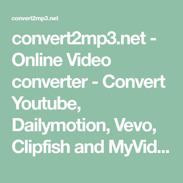 convert2mp3.net - Online Video converter - Convert Youtube ...
