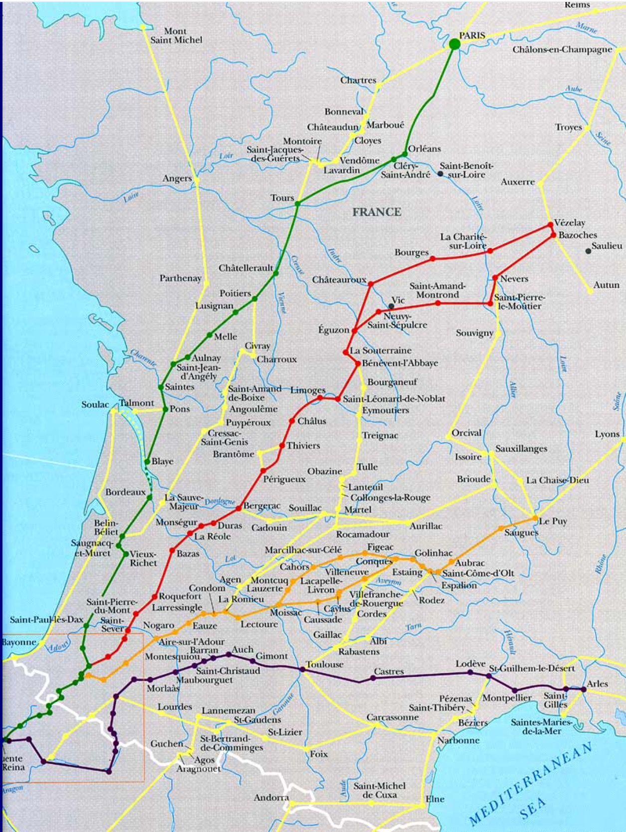 French Pilgrims Roads To Santiago De Compostela Jakobsweg