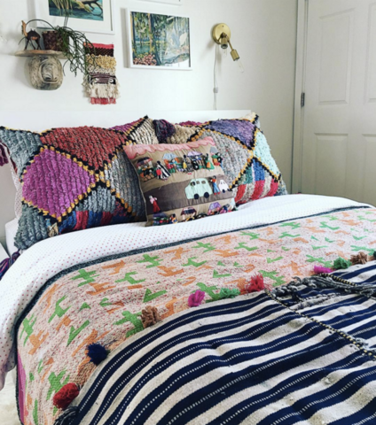Bohemian Decorating Ideas Navy Bedroom