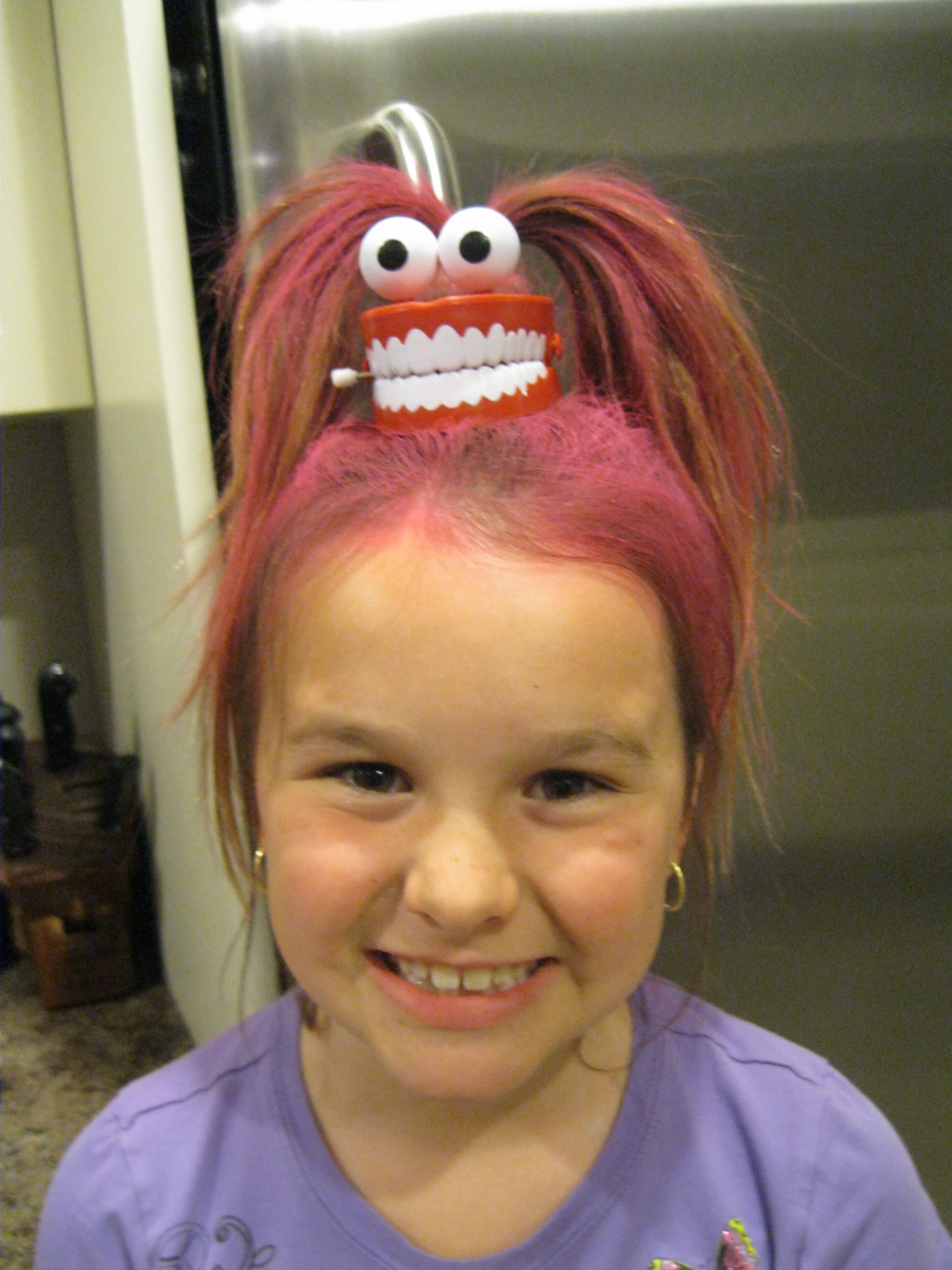 Pin By Dannah Gresh On True Girl Crazy Hair Ideas Wacky Hair Wacky Hair Days Crazy Hair For Kids
