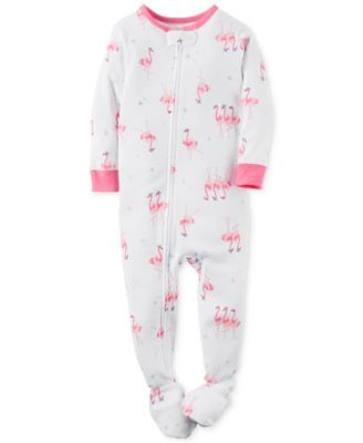 Carter s Toddler Girls  1-Piece Footed Flamingo-Print Pajamas  a1bf25bfa