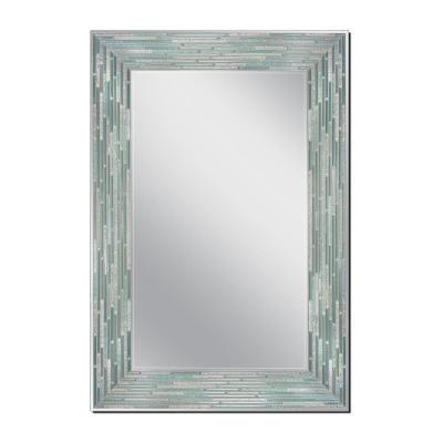 Deco Mirror Reed Sea Glass 23 5 In X 35 5 In Single Frameless