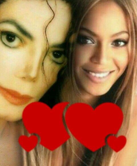 La hermosa  beyonce  con  Michael Jackson