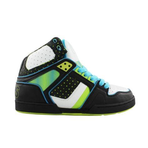 8780f9fcc18 Mens Osiris NYC 83 Ultra Skate Shoe - Black/White/Turquoise   @The ...