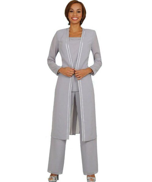 beautiful plus size mother of the bride pant suits - classy 3