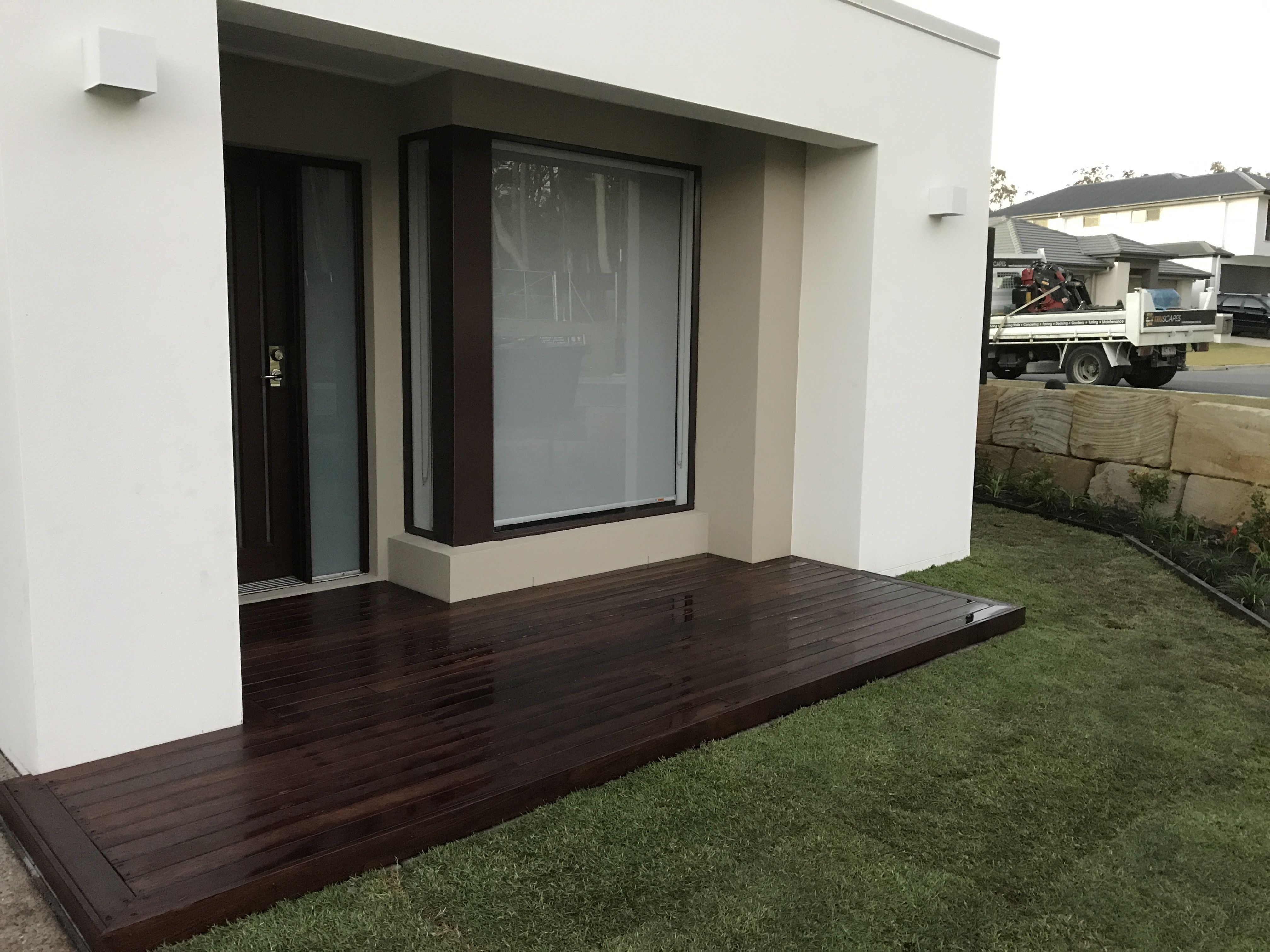 Pin By Truscapes Pty Ltd On Previous Work Garden Design Landscaping Company Concrete Driveways