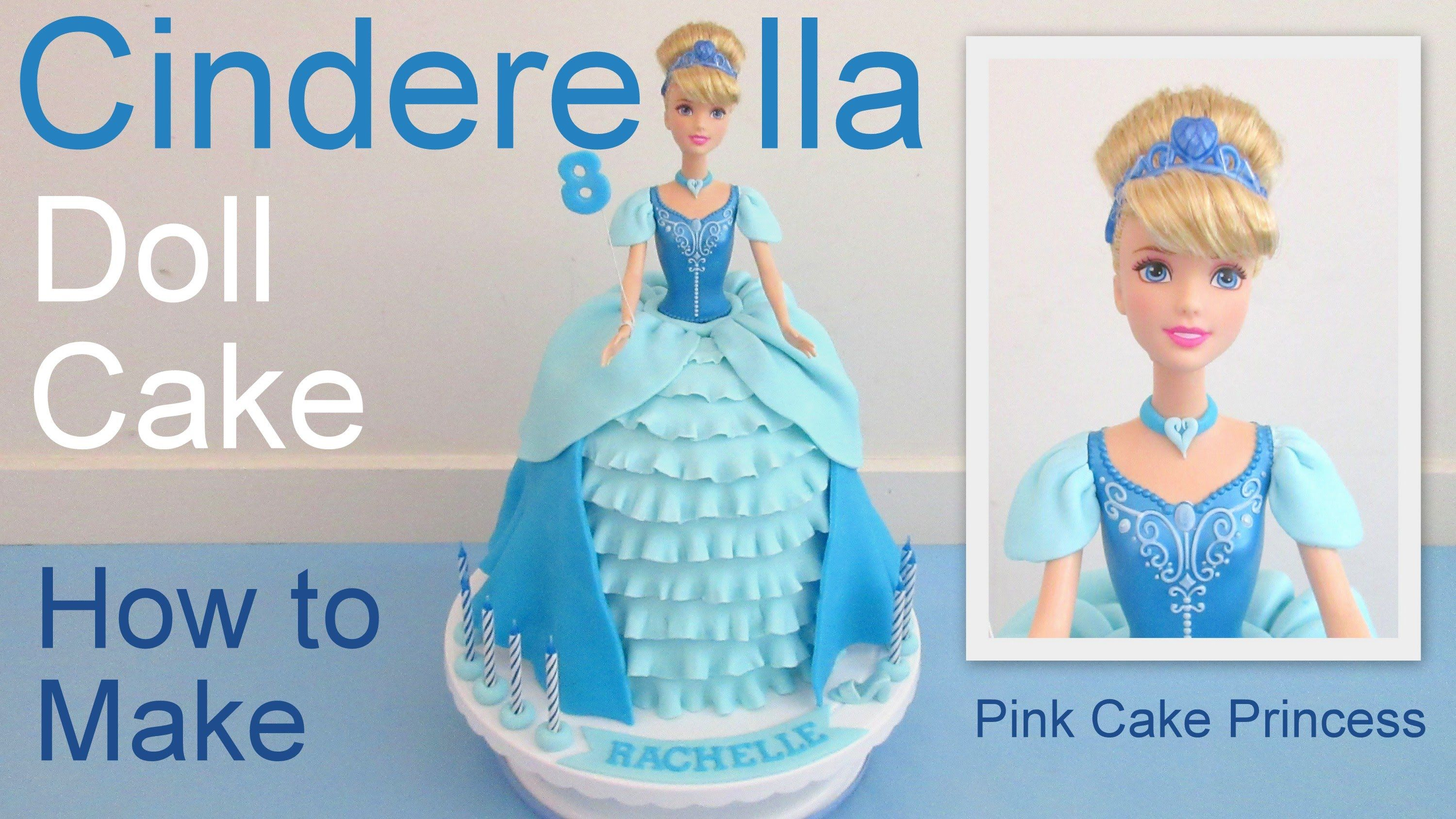 See how to make this easy Disney Princess Cinderella doll cake! This Cinderella cake comes complete with a miniature fondant slipper too. Beautiful birthday ...
