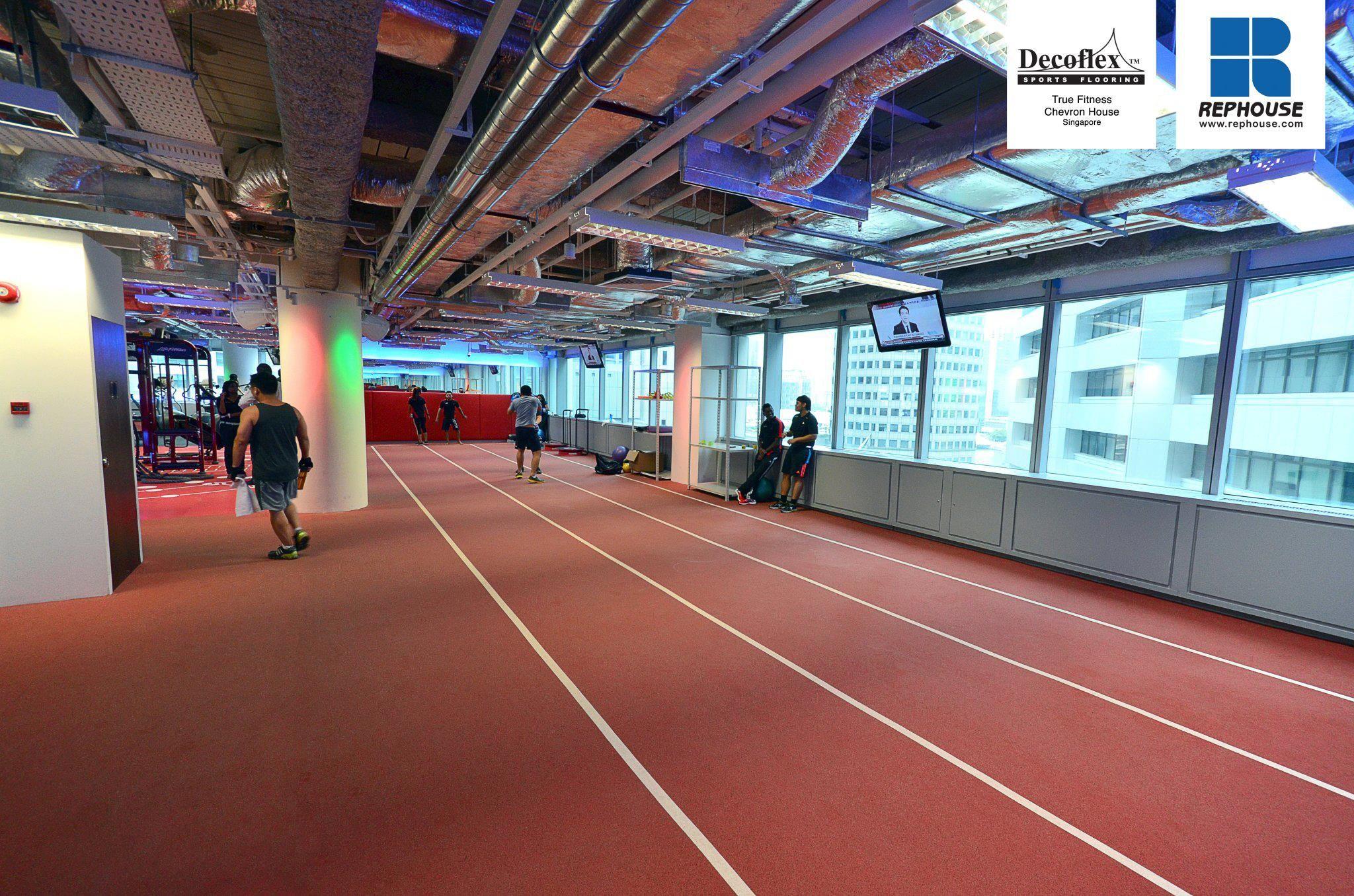 Decoflex Indoor Sprint Fitness Running Track True Fitness Chevron House Singapore Running Track Singapore Tennis Court