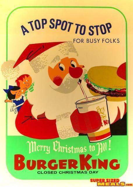 1960s-Burger King Christmas ad* Christmas paper dolls The ...