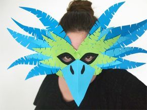 Faschingsmasken basteln - Schöne Tiermasken mit Kindern basteln