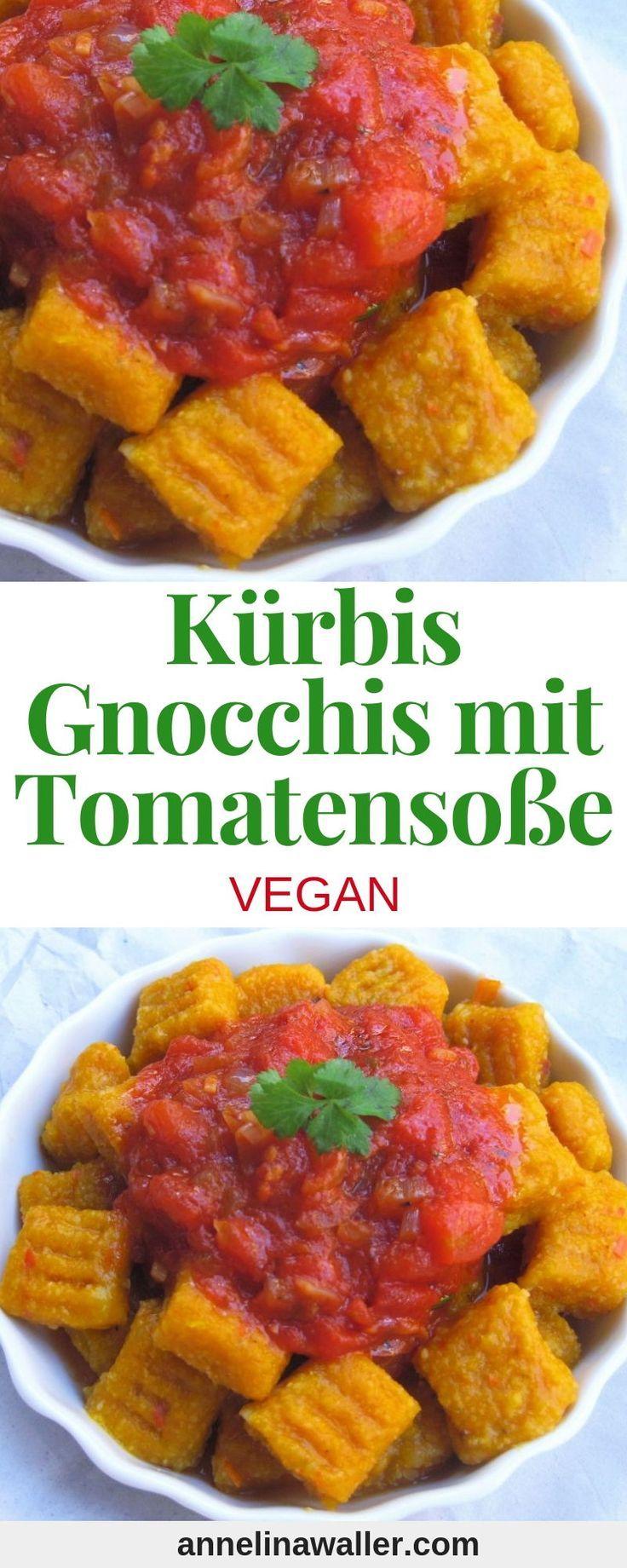 Kürbis-Gnocchis mit Tomatensauce Annelina Waller   – SOUL FOOD – vegane Köstlichkeiten