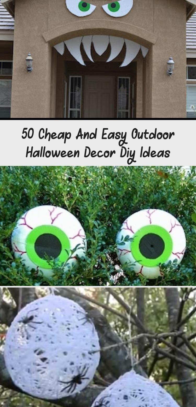 50 Diy Outdoor Halloween Decor Ideas Halloween Halloweendecor Halloweende In 2020 Halloween Outdoor Decorations Easy Outdoor Halloween Decorations Outdoor Halloween
