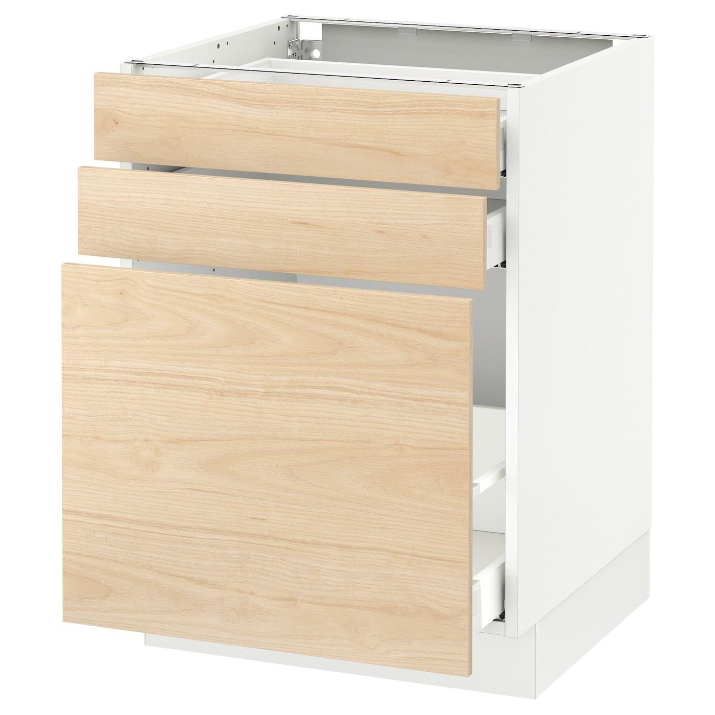 IKEA SEKTION white Base storage/2 drawer