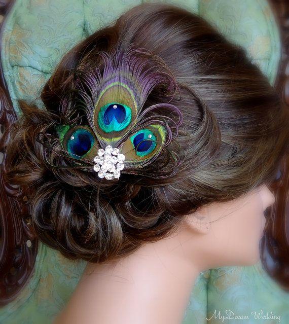 Peacock Headpiece For Wedding: Peacock Headpiece Peacock Hair Clip With By MyDreamWedding