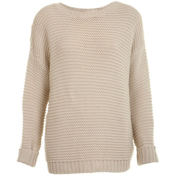 Chunky Garter Stitch Sweater ($61) ❤ liked on Polyvore
