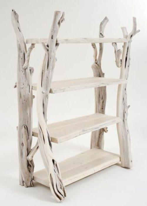 le bois flott en d co 52 id es originales bois tag re originale et deco bois. Black Bedroom Furniture Sets. Home Design Ideas