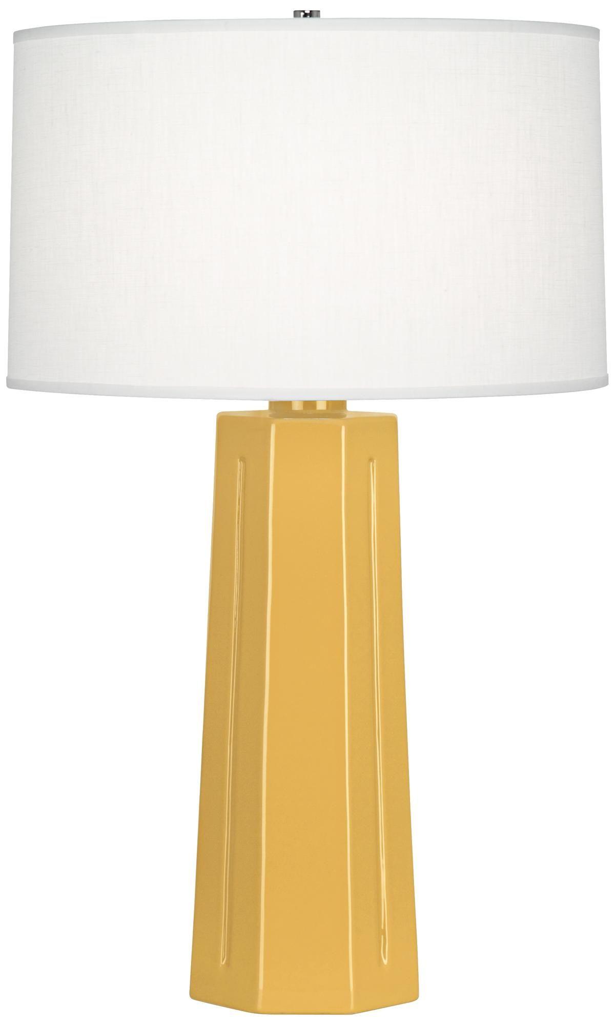Robert Abbey Mason Sunset Yellow Ceramic Table Lamp 5t494 Lamps Plus Ceramic Table Ceramic Table Lamps Table Lamp