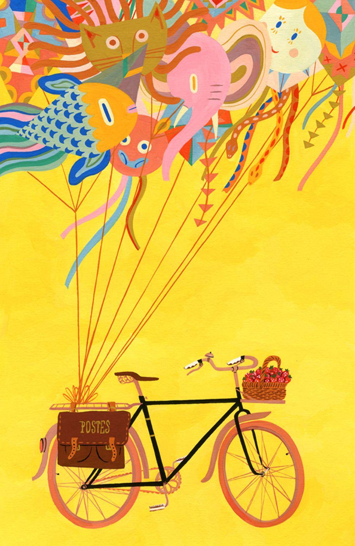 Theartofanimation Alexandra Huard Bike Art Illustration