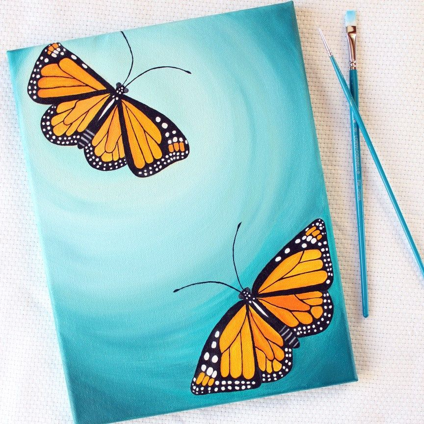 New listing! Original oil on canvas 9x12 painting of flying butterflies in an aquamarine sky. Remember, 20% sale is still going on! Happy Wednesday 😊