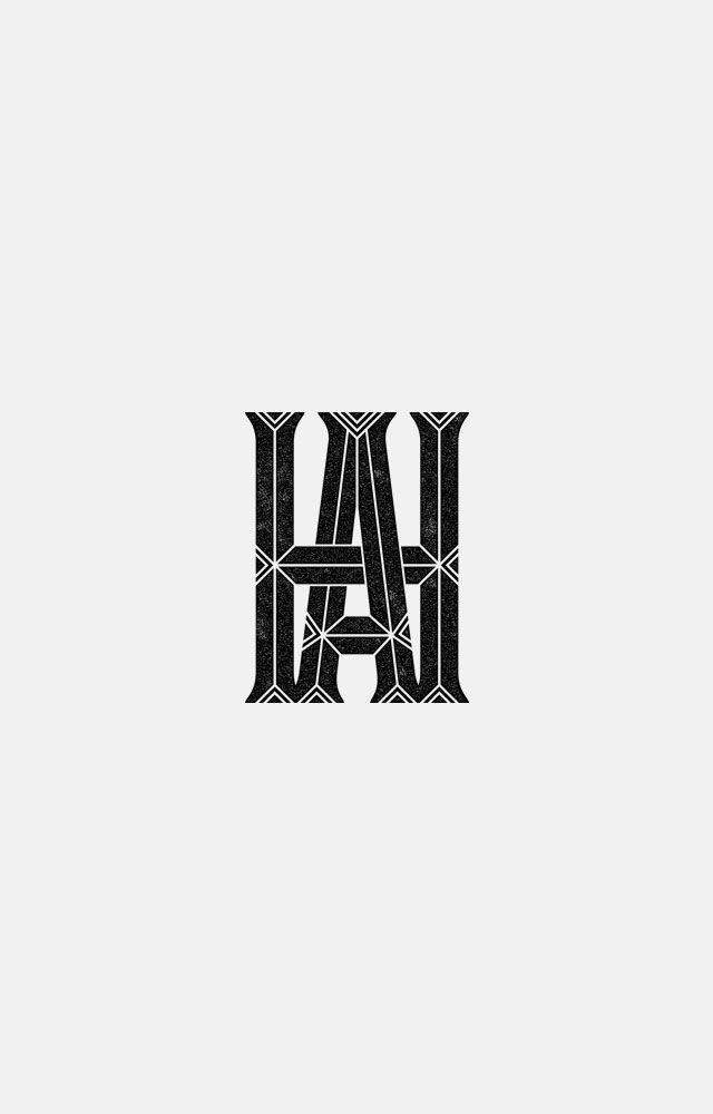 Ah Monogram Logo By Oat Branding Design Logo Letter Logo Design Typography Logo