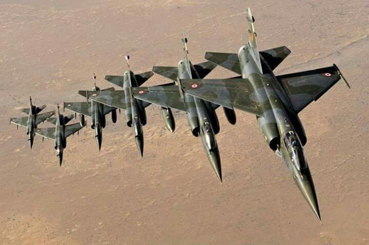 French Mirage F1CT over Sahara
