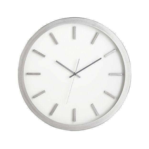Huxley Brushed Silver Wall Clock