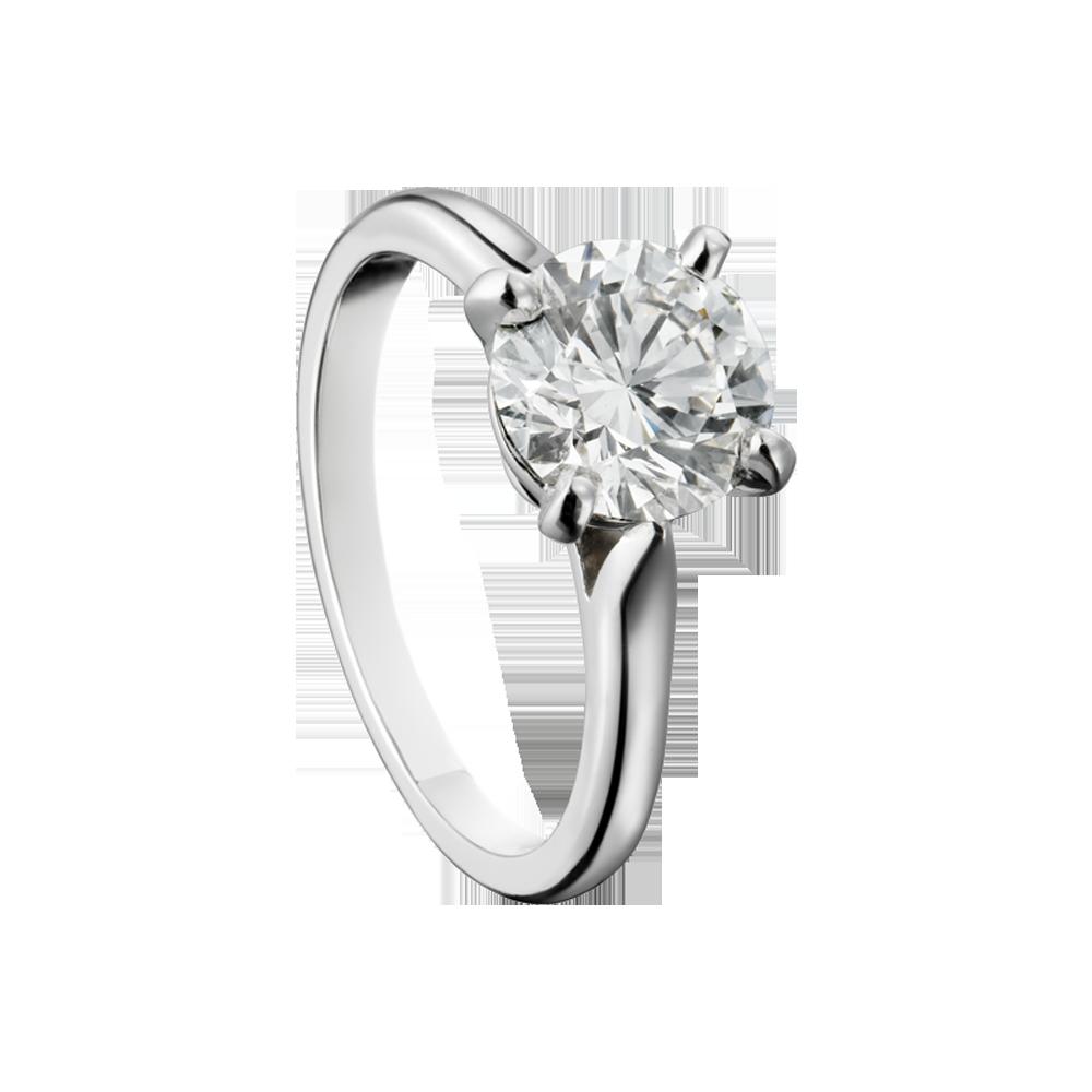 a1a15b87bd8 Anel de noivado   solitário de diamante Cartier