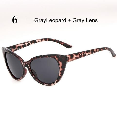 High Quality Cat Eyes Vintage Thick Frame Women Sunglasses With Low ...