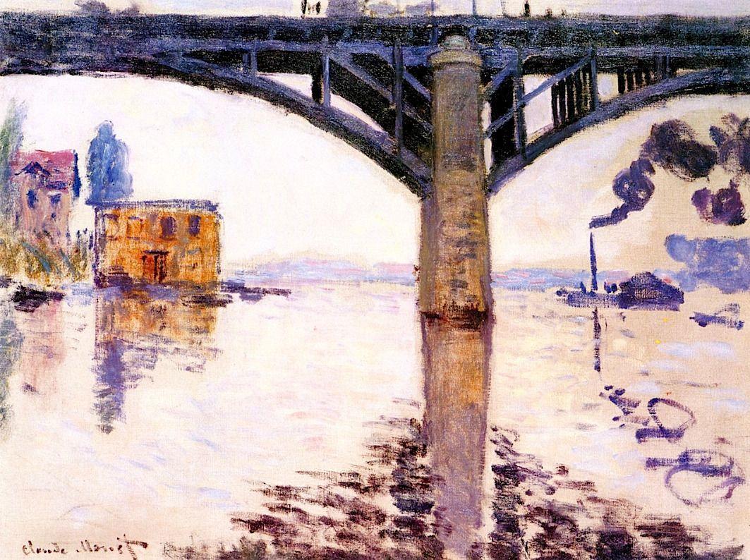 The Road Bridge At Argenteuil Claude Monet 1874 Monet Oil Paintings Claude Monet Art Artist Monet